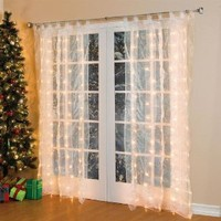 Brylanehome Pre-Lit Curtain Panel (White)