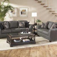 Stoked Ashes Sofa and Loveseat by Serta Furniture