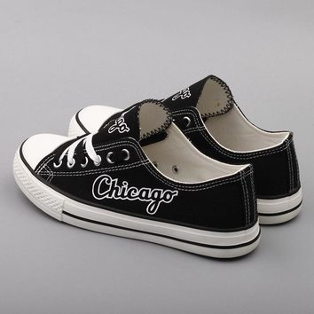 Chicago Proud Shoes Low Top Canvas Custom Printed Sneakers