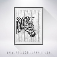 Zebra 2 art illustration, Zebra painting, Zebra wood, Wall art, Rustic Wood art, Animal print, Home Decor, Animal silhouette, Kitchen decor,