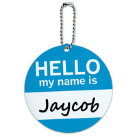 Jaycob Hello My Name Is Round ID Card Luggage Tag