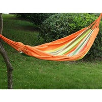 """Adeco Naval-Style Hammock Tree Hanging Suspended Outdoor Indoor Bed Tahiti Color, 63"""" Wide"""