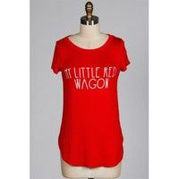 My Little Red Wagon- Red