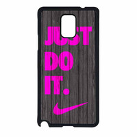 Nike Just Do It Wood Colored Darkwood Wooden Pink Samsung Galaxy Note 4 Case
