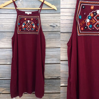 Embroidered Shift in Burg