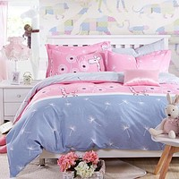 Fashion Color Mix And Match Cotton Bedding Set Bed Sheet Duvet Cover Pillowcase 4 pcs Combination Bed Cover Bed Linen