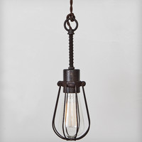 Industrial Oval Cage Pendant Light