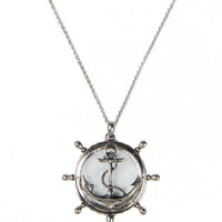 Magnified Anchor Necklace - Silver