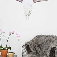 Walls Need Love Cow Skull Wall Decal- Multi One