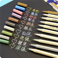 60 pcs/Lot Doodle drawing marker pens Metallic pen for Black paper Art supplies