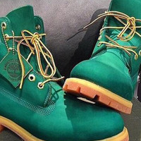 FREE SHIPPING Custom Green Timberlands