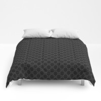 Gucci/GG Pattern Black Comforters by lummat