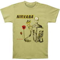Nirvana Men's  Incesticide Album Mens Soft T Slim Fit T-shirt Celery