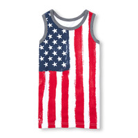 Boys Matchables Sleeveless Flag Graphic Tank Top | The Children's Place