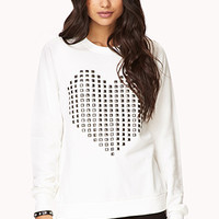 Studded Heart Pullover