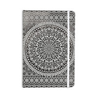 "Nika Martinez ""Mandala Bandana"" Black Abstract Everything Notebook"