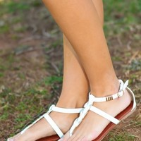 On Trend Sandals-White