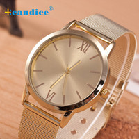 2016 New Fashion Women Design Electronic Watch Bracelet Women Ladies Gold Stainless Steel Mesh Band Wrist Watch Masculino Reloje