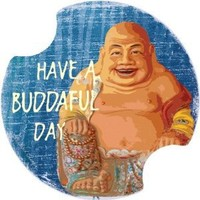 Buddahful Day Buddah Car Boat Truck Coasters Set of 2 Carsters Thirstystone