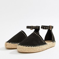 Missguided Studded Flatform Espadrilles at asos.com