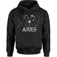 Aries Zodiac Star Chart  Adult Hoodie Sweatshirt