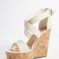 Cork-Wrapped Wedge Heels