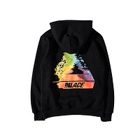 PALACE Skateboard Dissolve Colorful Triangle Palace Hoodies Men Women 1:1 Version High Quality Brand Clothing Hooded Sweatshirts
