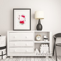Hello Kitty Watercolor Art Print