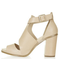 GAMBAS Cut-Out Shoes - Nude