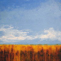 """Contemporary Landscape Painting Print - """"A Sunny Day"""""""