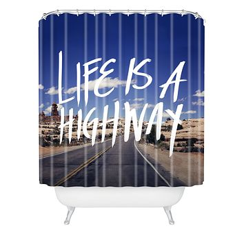 Leah Flores Life Is A Highway Shower Curtain