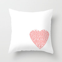 Heart of Love Throw Pillow by Alice Gosling | Society6