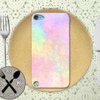 Pastel Watercolor Pink Rainbow Tumblr Inspired Cute Art Custom Rubber Case iPod 5th Generation and Plastic Case For The iPod 4th Generation
