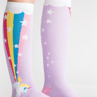 Rainbow Blast Unicorn Knee High Socks