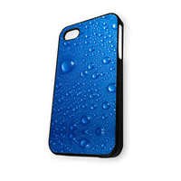 Blue Drops Glass iPhone 5/5S Case