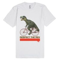 Respect The Rex Bicycle-Unisex White T-Shirt