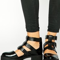 ASOS RANDOM Leather Ankle Boots at asos.com