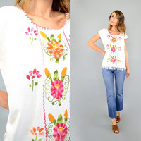 70's Embroidered MEXICAN Tunic Top