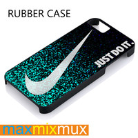 Glitter Just Do It iPhone 4/4S, 5/5S, 5C, 6/6 Plus Series Rubber Case