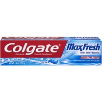 Colgate MaxFresh Cool Mint Toothpaste with Mini Breath Strips, 6 oz - Walmart.com