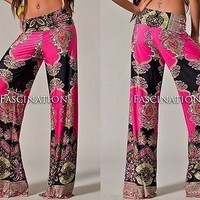 Hot Pink Tapestry Pants from The Wild Orchid