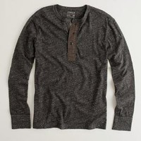 Heathered jersey henley