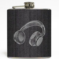 Let the Beat Rock - Headphones Flask