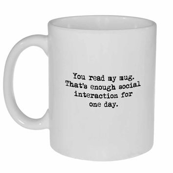 Social Interaction Fulfillment Coffee or Tea Mug