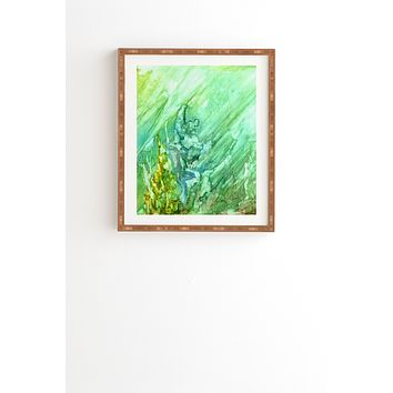 Rosie Brown Green Coral Framed Wall Art