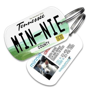 Tennessee License Plate Pet Tag