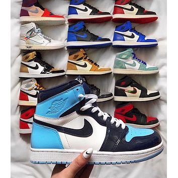 "Dior Nike Air Jordan 1 Mid ""Milan"" Classic Hot Sale High Top Men's and Women's Sneakers Shoes"