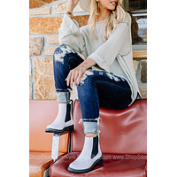 To Be Honest Ankle Boots   White