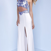 Two Piece Long Racerback Prom Dress