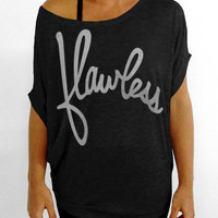 Flawless- Off the Shoulder Slouchy Tee - Black